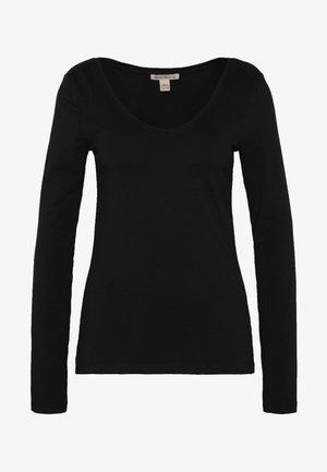 BASIC LONG SLEEVE TOP - Long sleeved top - black