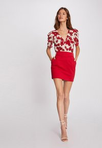 Morgan - WITH BUCKLES - Pencil skirt - red - 1