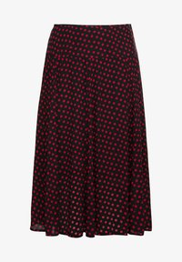Sheego - Pleated skirt - schwarz-rot - 5