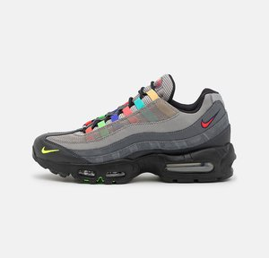 AIR MAX 95 SE UNISEX - Baskets basses - light charcoal/university red/black