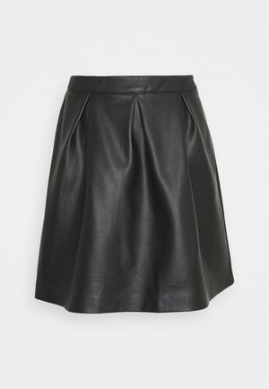 VIFALLA SHORT SKIRT - Jupe trapèze - black