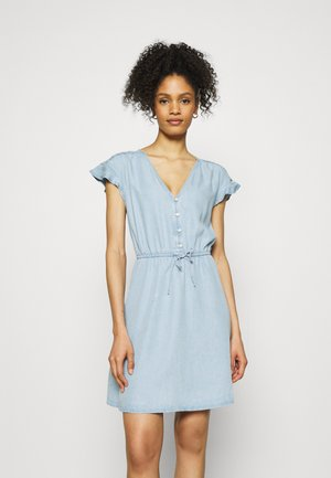 DRESS - Denimové šaty - blue chambray