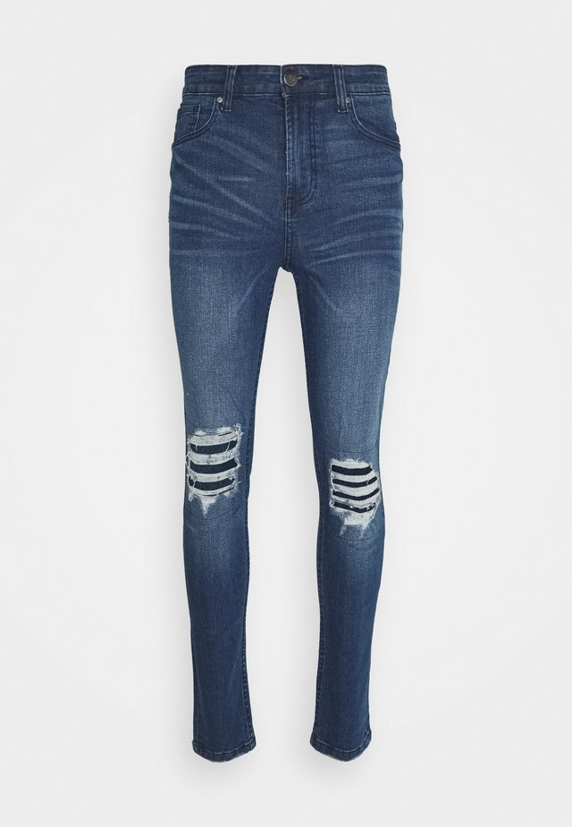 PATCH - Slim fit jeans - blue