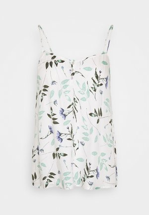 CAMI PRESSED LEAVES - Pyjama top - snow white