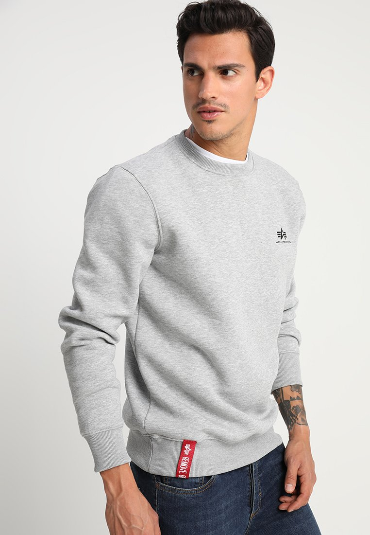 Alpha Industries - BASIC SMALL LOGO - Sweatshirt - grey heather
