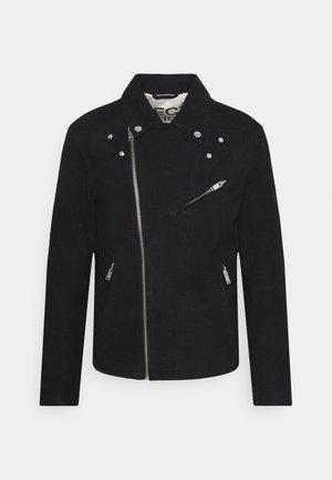 SLHICONIC BIKER - Leather jacket - black