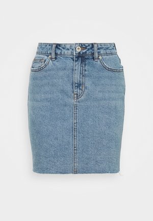 ONLEMILY  LIFE ACID SKIRT - Denim skirt - light blue denim