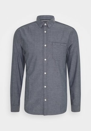 REGULAR ORGANIC DOBBY - Camicia - navy chambray with white