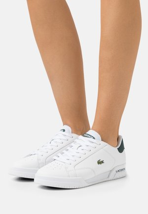 TWIN SERVE - Sneakersy niskie - white/dark green