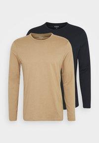 LONG SLEEVE CREW 2 PACK  - Langærmede T-shirts - dark blue