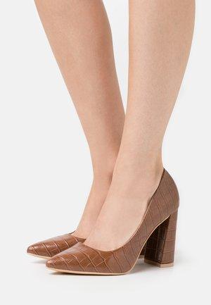 Lodičky na vysokém podpatku - brown