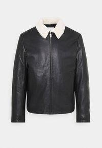 sandro - Leather jacket - noir - 0