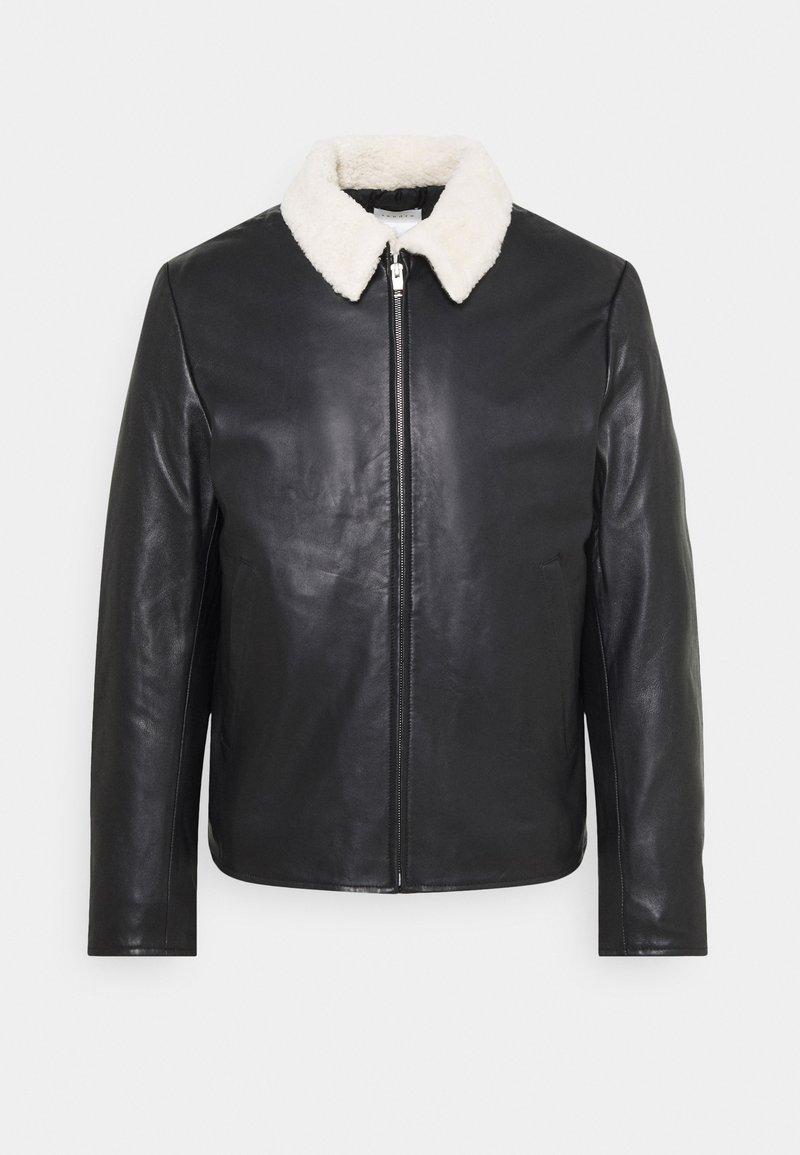 sandro - Leather jacket - noir