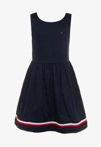 Tommy Hilfiger - GLOBAL STRIPE TAPE DRESS  - Denní šaty - blue - 0