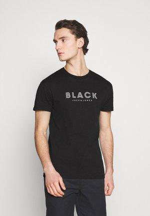 JPRBLACLEAN TEE CREW NECK - T-shirt med print - black