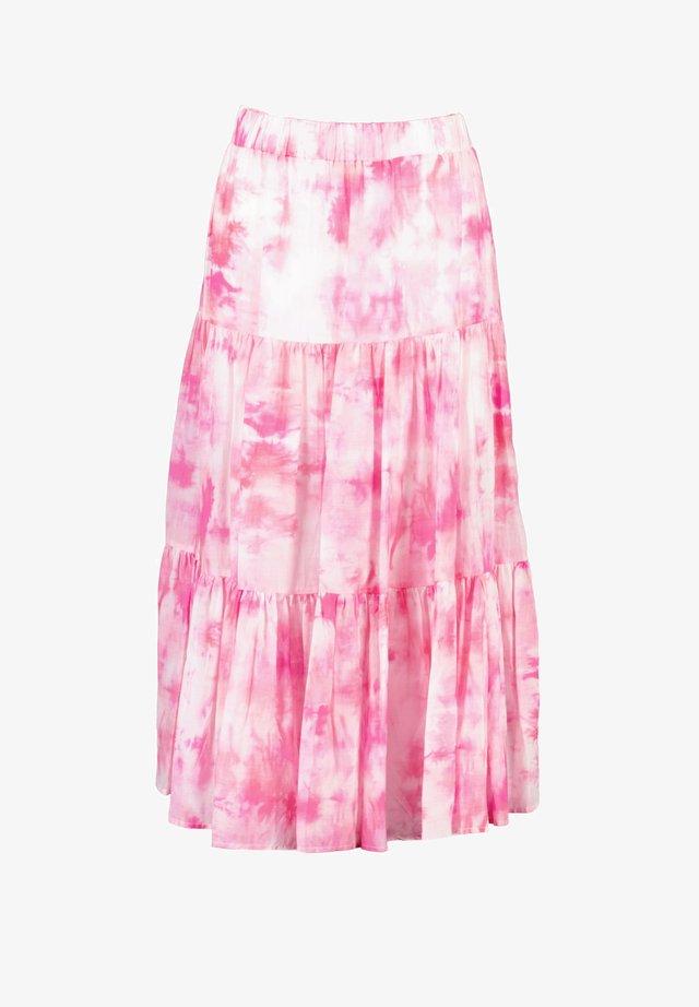 Pleated skirt - pink batik