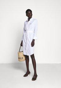 Polo Ralph Lauren - HEIDI LONG SLEEVE CASUAL DRESS - Hverdagskjoler - white - 1