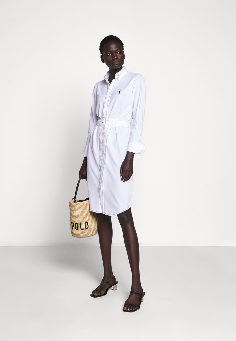 HEIDI LONG SLEEVE CASUAL DRESS   Blusenkleid   white