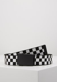 Urban Classics - ADJUSTABLE CHECKER BELT - Skärp - black/white - 0