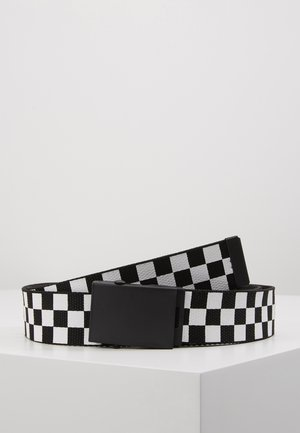 ADJUSTABLE CHECKER BELT - Ceinture - black/white