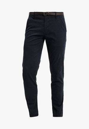 CLASSIC WITH BELT - Pantalones chinos - navy