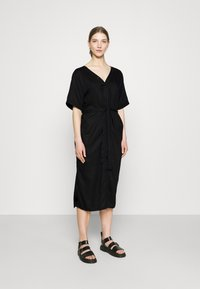 Dedicated - DRESS BORNHOLM - Shirt dress - black - 0