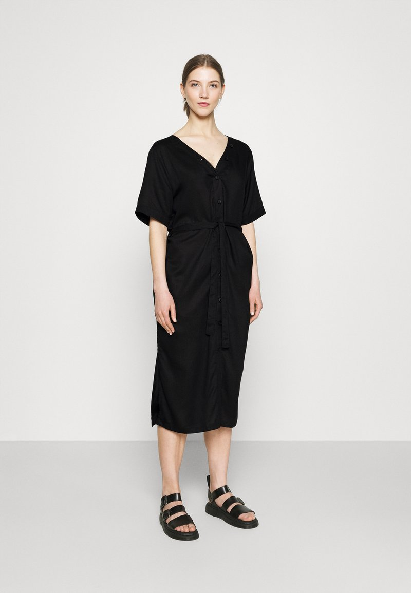 Dedicated - DRESS BORNHOLM - Shirt dress - black