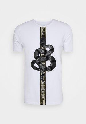 DEVANEY  - Print T-shirt - white