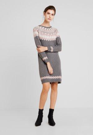 DRESS - Strikket kjole - gunmetal