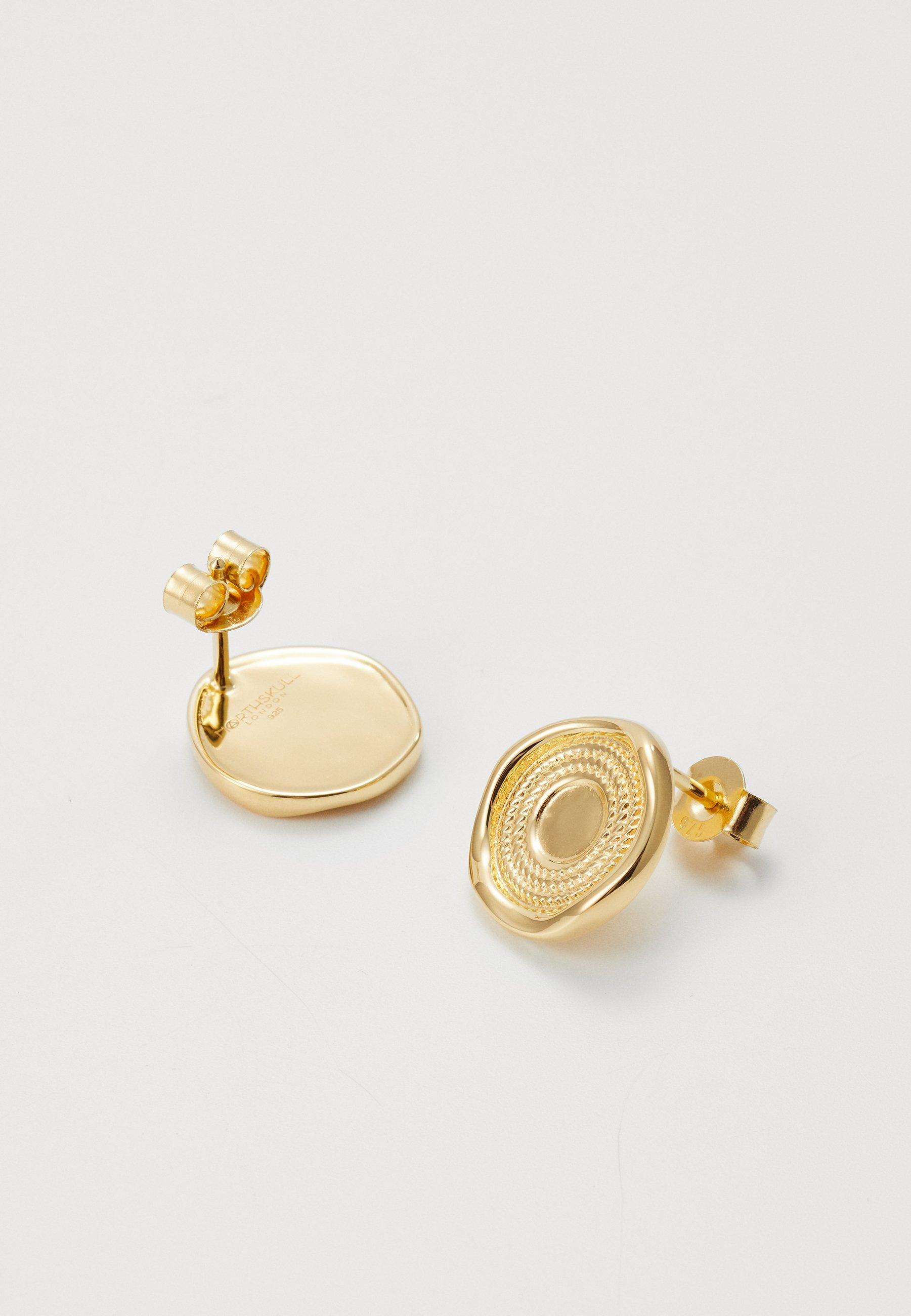 Northskull Rope Stud Earringsin - Ohrringe Gold-coloured/gold