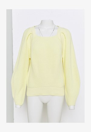 SLFGRY LS SQUARE NECK B - Jumper - pastel yellow