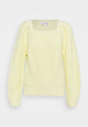SLFGRY LS SQUARE NECK B - Strikpullover /Striktrøjer - pastel yellow