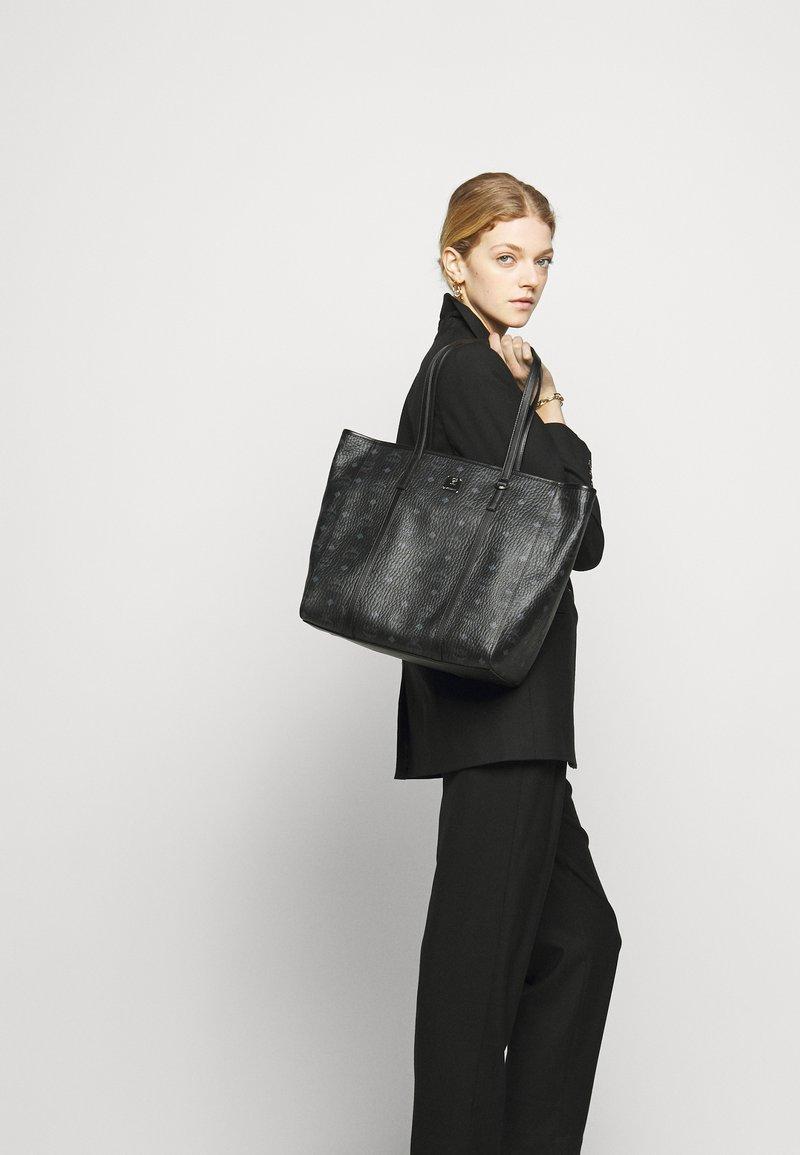 MCM - TONI VISETOS SHOPPER MEDIUM - Tote bag - black