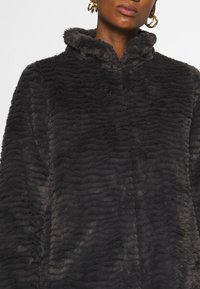 Dorothy Perkins - FUNNEL COLLAR TEXTURED LONGLINE  - Winter coat - slate - 5
