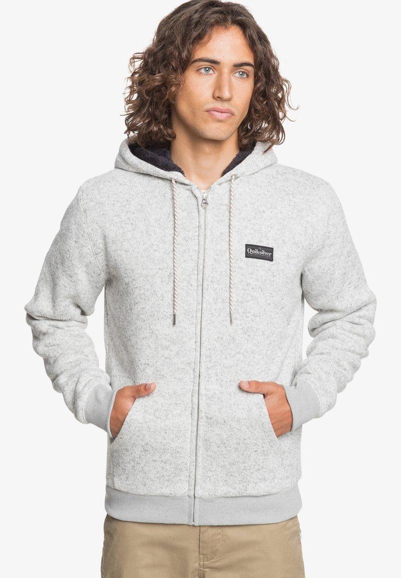 Quiksilver - KELLER - SHERPA-FLEECE MIT REISSVERSCHLUSS UND KAPUZE - Zip-up hoodie - light grey heather