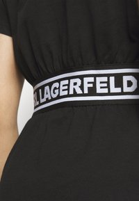 KARL LAGERFELD - LOGO TAPE - Pyjama top - black - 4