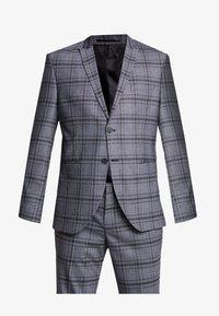 PEAKPEKA CHECK - Suit - dark grey/brown