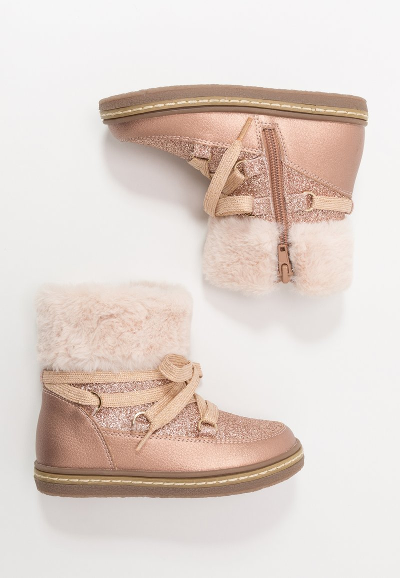 Friboo - Lace-up ankle boots - rose gold