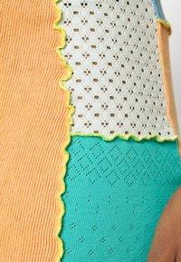 Jaded London - PANELLED MINI SKIRT WITH KNICKER DETAIL  - Mini skirt - blue/ green/ orange - 4