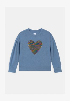 GIRLS FLIPPY BOXY - Sweater - light indigo