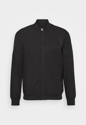 BASEBALL ZIP THROUGH  - Bomberjacka - dark black