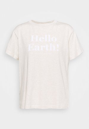 SHORT SLEEVE ROUND NECK - Print T-shirt - sandy melange