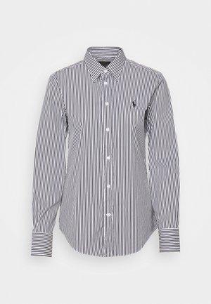 STRETCH - Button-down blouse - black/white