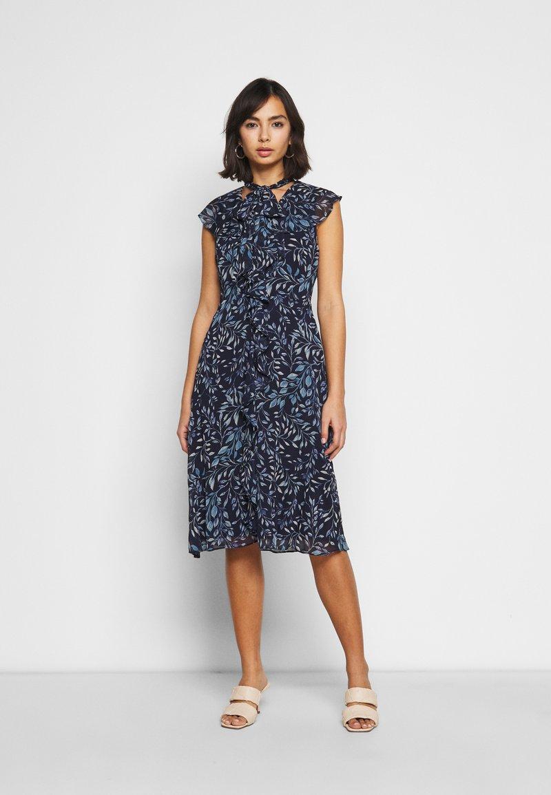 Lauren Ralph Lauren Petite - MARIKA  SLEEVE DAY DRESS - Day dress - navy blue
