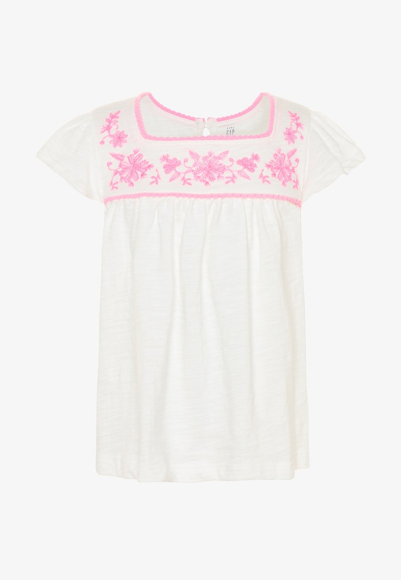 GAP - TODDLER GIRL SQUARE - Triko s potiskem - new offwhite