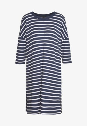 DRESS 3/4 SLEEVE ROUND NECK STRIPED - Day dress - silent sea