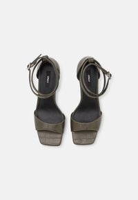 ONLY SHOES - ONLALYX CROC - High heeled sandals - olive - 5
