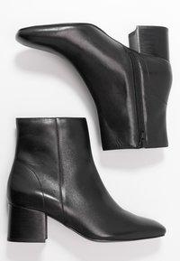 Anna Field - LEATHER BOOTIES - Kotníkové boty - black - 3