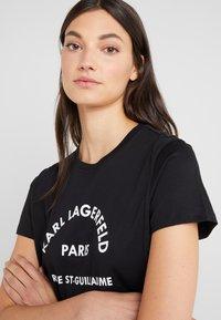 KARL LAGERFELD - ADDRESS  - Camiseta estampada - black - 4