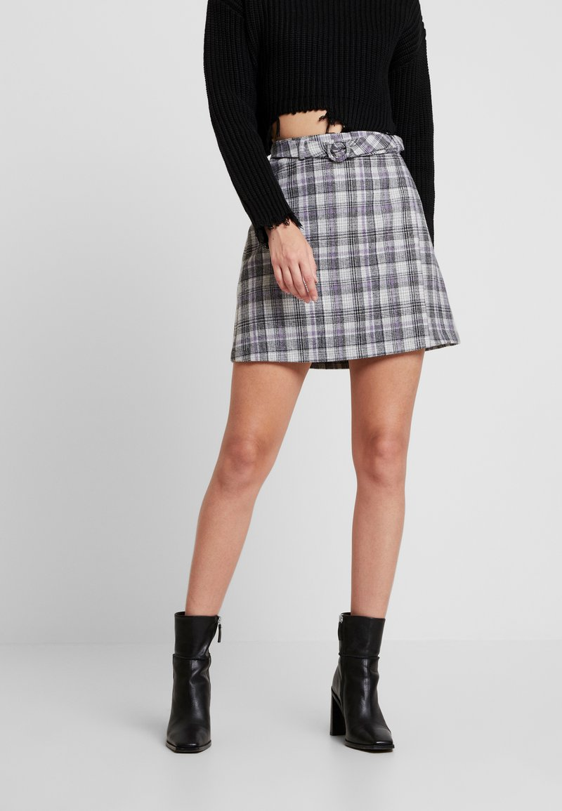 Fashion Union - CILLIAN SKIRT - A-line skirt - grey